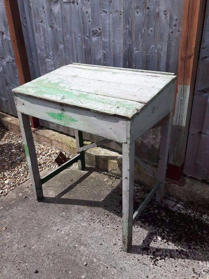 Large Vintage Industrial / Factory High Desk
