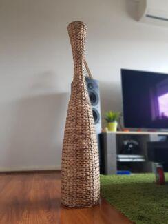 Rattan wicker vase, ornament, decoration