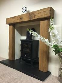 oak beam fire surrounds/floating mantles,shelves-made to your own requirements uk delivery