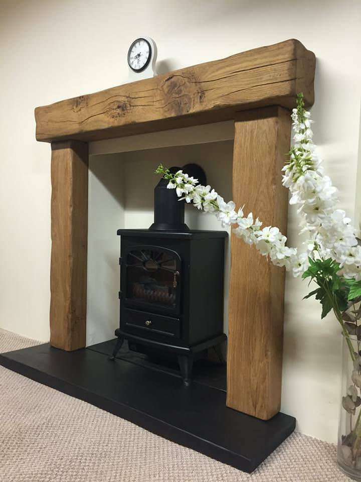 Oak Beam Fire Surrounds Floating Mantles Shelves Made To