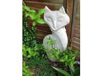 Large garden cat ornament