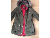 Real Barbour parka size 10-12