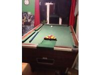 Pub full size pool table great condition 46cm wid and 82cm length pool table comes apart in four