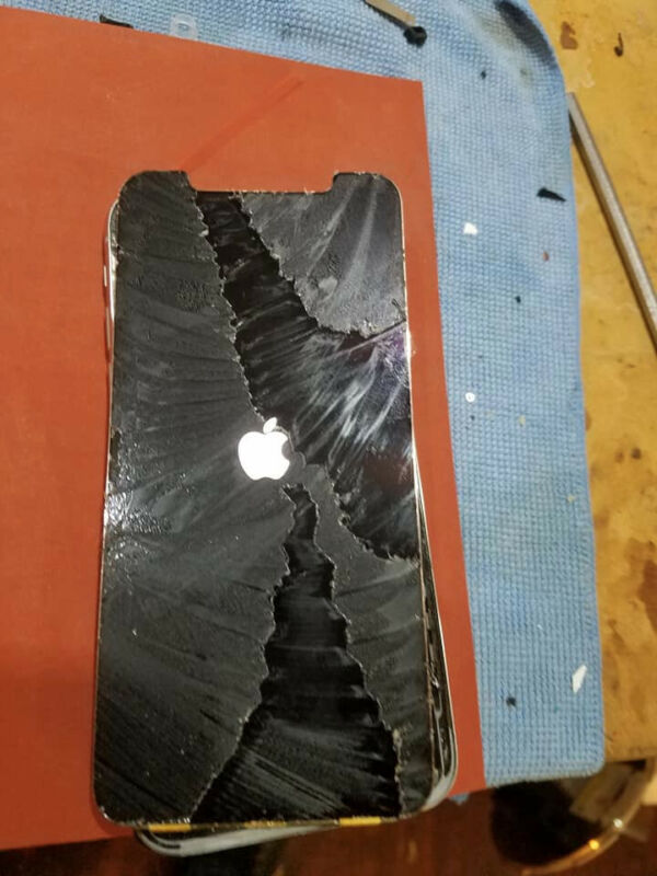 Iphone X Cracked Glass - Front Glass Repair Service Oem