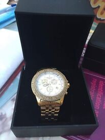 101 diamonds and gold ingersoll watch