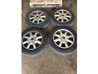 """Mini one Set of Alloy wheels and tyres 15"""""""