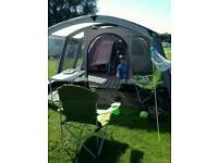 Kampa hayling 6 air tent with carpet and footprint