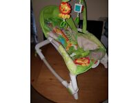 Fisher Price Newborn-to Toddler Portable Rocker ( clean, as new cond. )