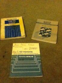 Toyota Rav4 Dealer Workshop repair Manual Set (3 books)