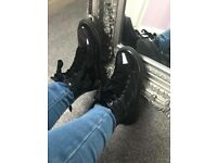 BNIB black patent ankle boots sizes 2,3