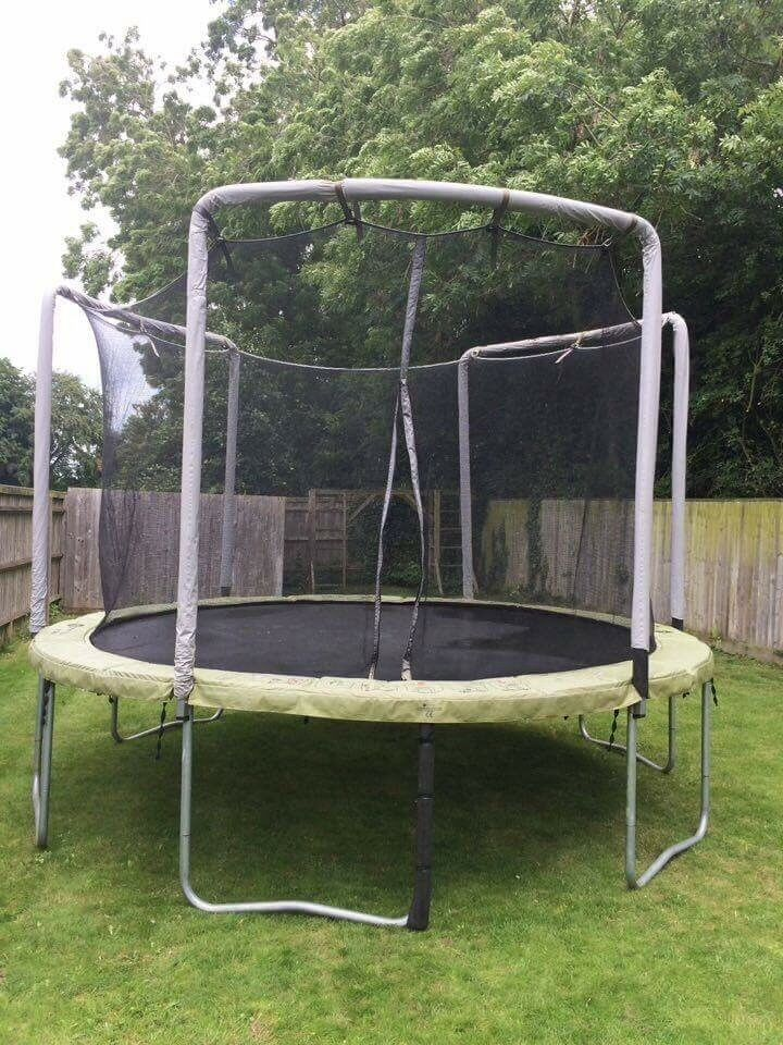Trampoline for sale domyos mt365 from decathlon with for Trampoline exterieur decathlon