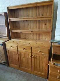 Large pine welsh dresser