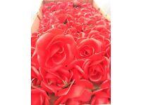 Plastic flowers for grave wreaths etc