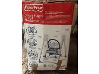 Fisher Price 3 in 1 Smart Stages baby rocker swing