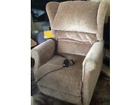 Rise and recline armchair. Very good condition.
