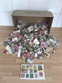 Large collection of old stamps from around the world