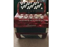 Luciano 72 bass chromatic button Accordion