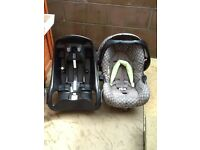Graco baby seat and car base
