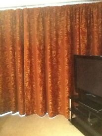 2 pairs curtains both fully lined