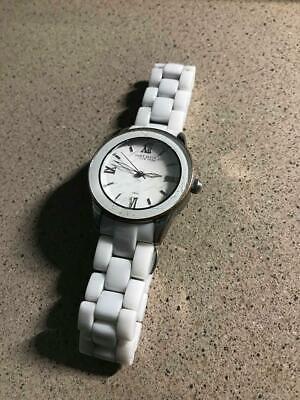 Anne Klein New York 12/2109WTWB White Ceramic Dress Women's Watch