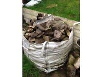 Rubble and rockery stones