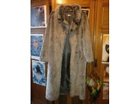 Floor-length Vintage Faux Fur Jacket