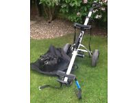 Electric golf trolley plus 2 batteries, charger and leads