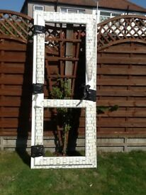 External upvc double glazed back door with cat flap
