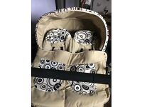 Twin pram travel system from birth £250 Ono