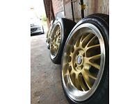 """16"""" 4x108 Cades Eros Gold NEW CONDITION Peugeot Citroen"""