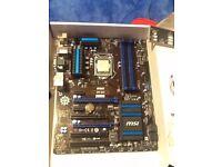 MSI Z97-G43 Intel LGA1150 Z97 ATX Motherboard + i5-4690k CPU optionally