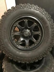 33x12.50 17 DICK CEPEK TIRES ULTRA MOTORSPORT RIMS 8/32 WITH SENSORS DOT1514 5X139.7 BOLT PATTERN DODGE RAM