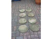 8 X round stepping stones