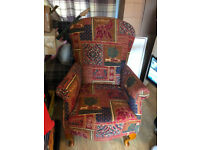 Armchair tastefully and professionally restored