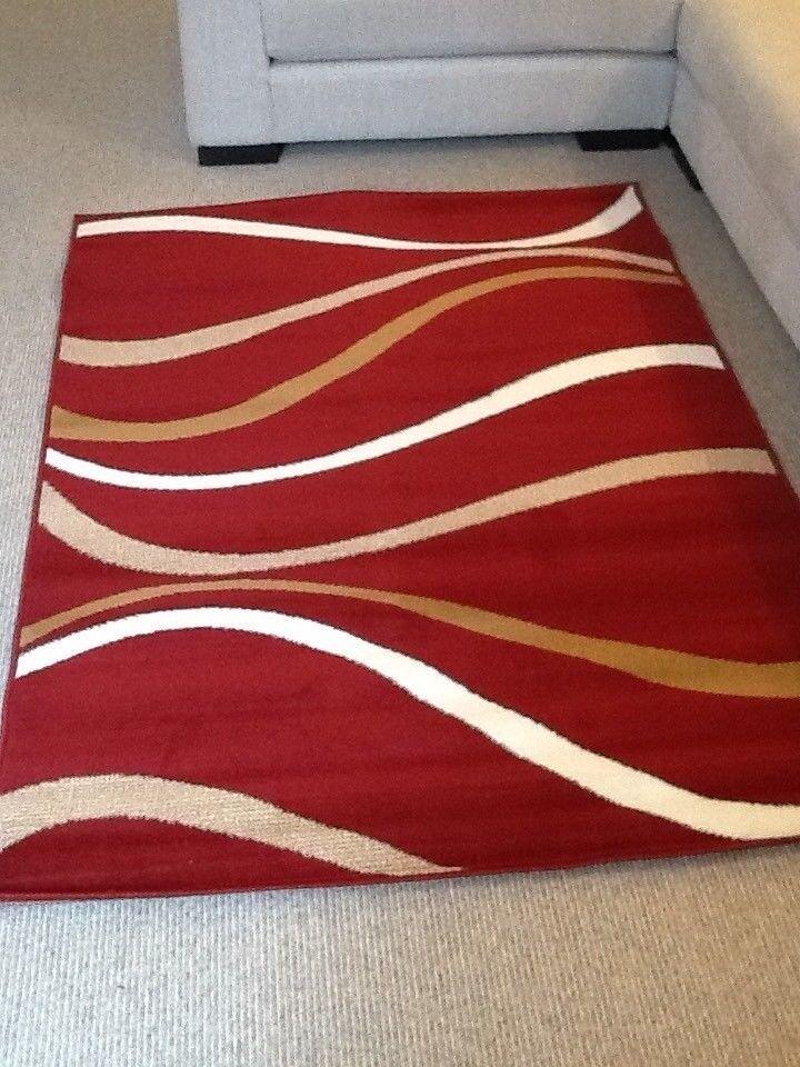 Brand New Homemaker Maestro Rug Red White Fawn Beige 170 X