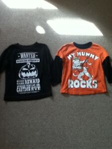 Two 2T Long Sleeved Halloween Shirts in St Thomas
