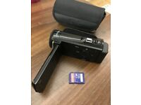 Video camera with 32 GB SDHC Card