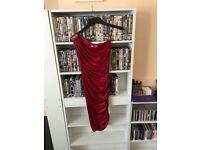ladies goddess London red one strap dress size 8-10