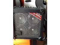 Rolland micro sterio cube guitar amp ...battery/mains