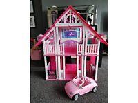 Barbie house amd car