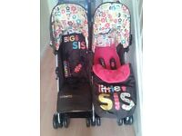Girls double cosatto pushchair