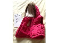 Up to 3 months girls body warmer