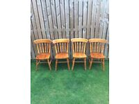 4 farmhouse pine chairs / great project