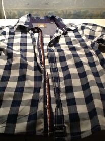 Boys nearly new timberland checked shirt