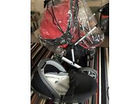 Britax unisex push chair/ rain cover/2 travel system