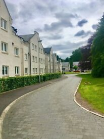 Modern two double bedroom unfurnished ground floor flat in Eskbank, Midlothian with parking