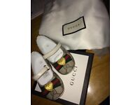 Gucci baby girl pram shoes brand new in box