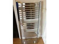 Towel rail radiator new with fittings collect Romford 500x1200