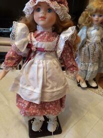 Porcelain Dolls x 9