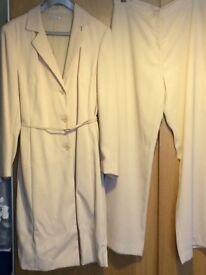 Ladies longline cream suit